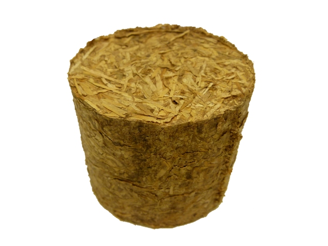 briquetted rice straw