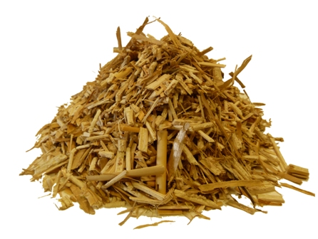 shredded miscanthus